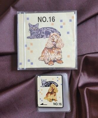 Brother Embroidery card for embroidery Machine Cats & Dogs No 16 Rare