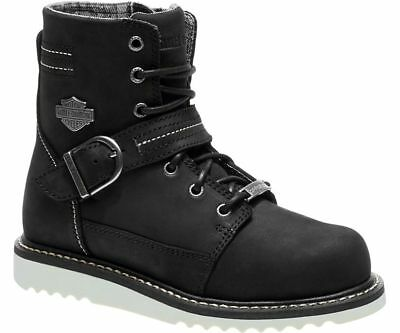 a9721e758f4b HARLEY-DAVIDSON WOMEN S DARTON Black Full leather Boots D84195 ...