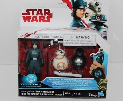 Star Wars Force Link Rose (First Order Disguise), BB-8, BB-9E Pack NEW