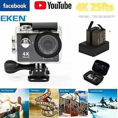 WIFI 4K Action Camera 1080P Waterpfoof 170° Live Streaming in Facebook Youtube