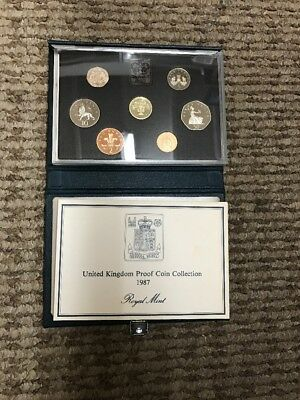 United Kingdom 1987 Proof Coin Collection Royal Mint