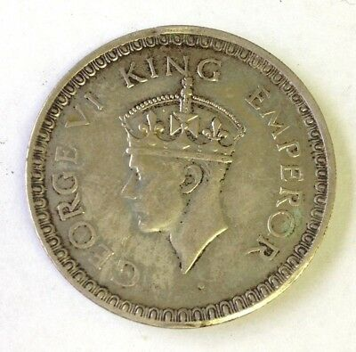 1944 (b) India One Rupee silver, George VI, British Empire