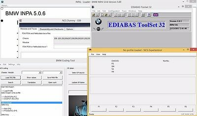BMW Coding Diagnostics INPA EDIABAS NCS WinKFP Tool32 ESYS + Coding Guides