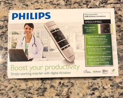 New Philips SpeechMike Pro LFH3200 with push button operation.