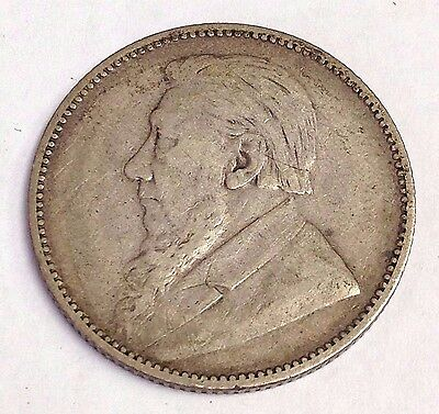 1894 South Africa 1 Shilling, Paul Kruger coin KM#5, rare low mintage, VF