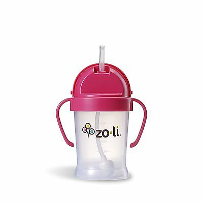 NEW - 6 oz  (Pink) - ZoLi Bot Sippy Cup - FREE SHIPPING