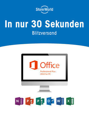 ●ANGEBOT● Microsoft Office Pro Professional Plus 2010 ★EXPRESS - Sofortversand★