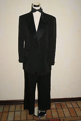 Vintage 1950s To 1960s AFTER SIX Mens Black Tuxedo Size 39 Regular