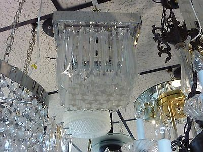 SIGNED 20's  ANTIQUE VINTAGE Art Deco RARE 8 LIGHTS Ceiling CHANDELIER
