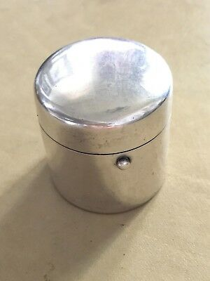 Lovely Sampson Mordan Sterling Silver Ink Well, London, Needs Repair