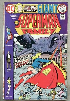 Superman Family #174-1975 vg Supergirl Giant Size Dragon cover / story