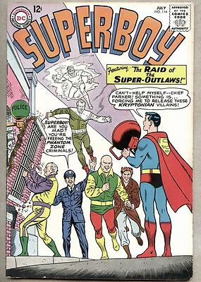 Superboy #114-1964 fn Curt Swan / George Papp Origin of the Phantom Zone
