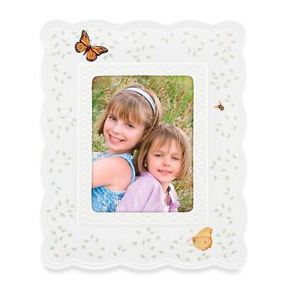 """Lenox Butterfly Meadow Basket Fine Porcelain - Sprint time Picture Frame 5""""X7"""""""