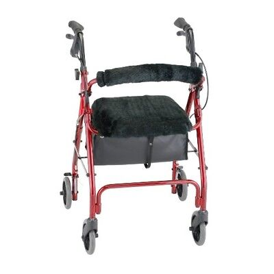 Tax Free Rollator Walker With Seat Back Cover Style Medical Mobility Equipment