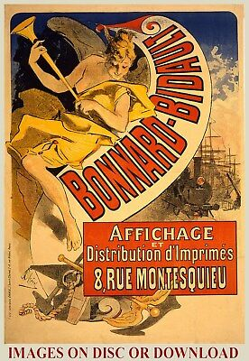 PRINT REPRO VINTAGE FRENCH POSTER ADS - Art Deco, Nouveau - (by Timecamera)