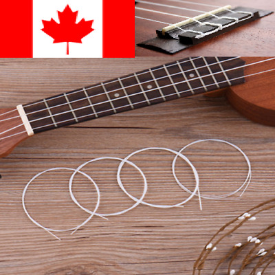 Set of 4Pcs White Nylon Strings Replacement Part for Ukulele Classical Guitar