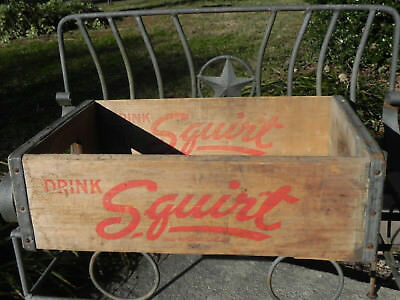 Squirt Soda Wood Bottle Crate Carrier Box Hires Atlantic City