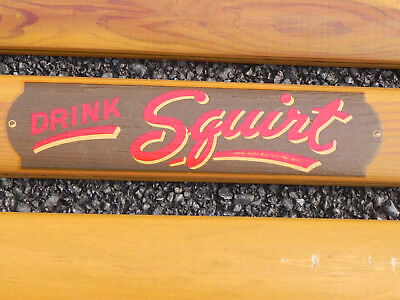 Squirt Soda Wood Advertising Sign Frame 1940s Rare