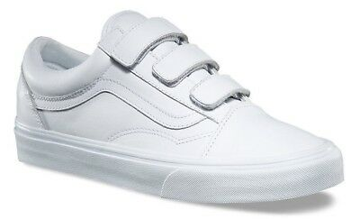shop for best buy sale highly coveted range of VANS OLD SKOOL V (Mono Leather) White Strap Skate Shoes Sz ...
