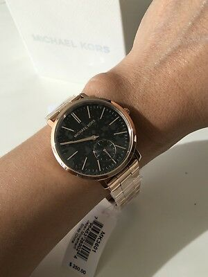Nwt Michael Kors Jaryn Rose Gold Women S Watch Retail 250 149 95