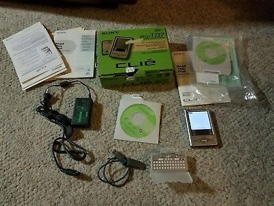 Sony PEG-TJ37 Clie Personal PDA 32mb Powerpoint PicselViewer Video Player Camera