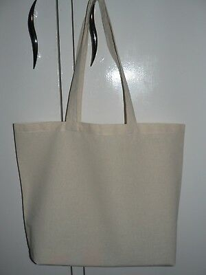Calico bags with Long handle(  44 cm x 40 cm ) Reusable-Grocery-Tote Bag