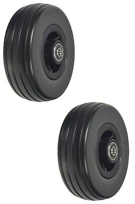 """6""""x 2"""" Front and Rear Caster Wheels for Quantum Q6 Edge and Q6000Z Black Casters"""