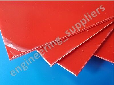 RED Plastic Sheet High Impact Polystyrene HIPS Plasticard  A5 A4 A3 1.5, 2, 3 mm