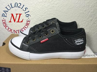 Levi's Kids BOYS Stan Buck C Black Denim Sneakers ~ Various Sizes ! ! !