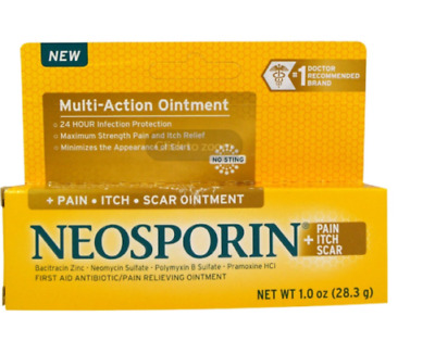 New Neosporin Multi Action Pain-Itch-Scar Ointment No Sting Strength Pain Relief