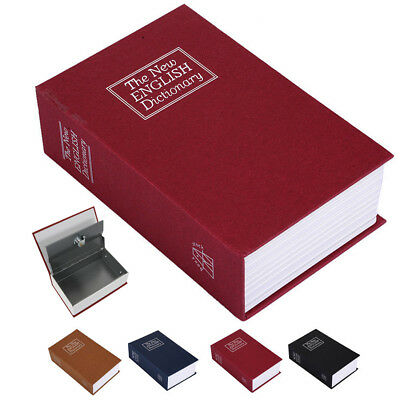 New Home Security Mini Dictionary Book Safe Storage Key Lock Box for Cash Money