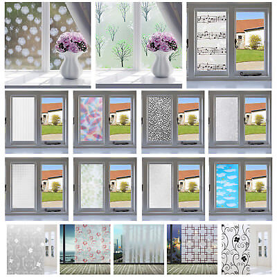 45x200cm Frosted Privacy Room Bathroom Window Glass Self-Adhesive Film Sticker #
