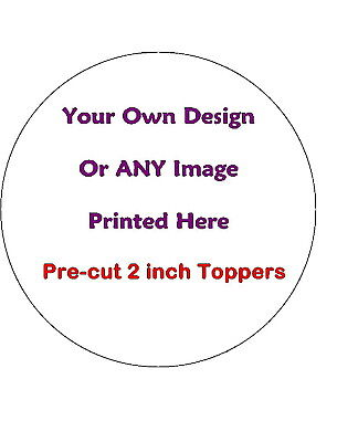 15 Pre-Cut Design Your Own Personalised Cup Cake Edible Rice Wafer Paper Toppers