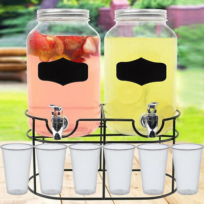 Single Double Glass Cold Drink Dispenser Jars 100 Free Clear Half Pint Beer Cups