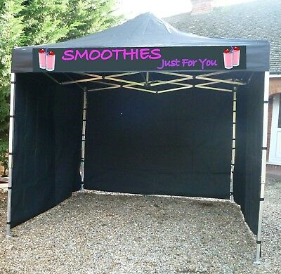 Heavy Duty Gazebo & Roof Walls + Sign  Design Lots Of Colours Marquee Awning
