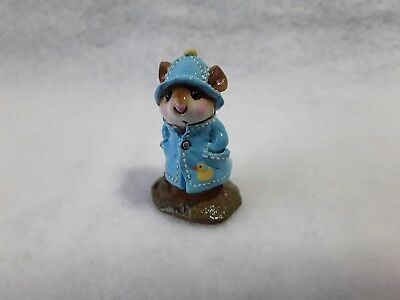 "Wee Forest Folk M-180/ ""april Showers"" -Light Blue With Duck"