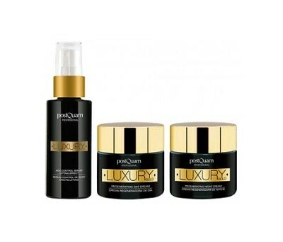 Postquam Pack Luxury Gold sérum 30ml + crema de día 50ml + crema de noche 50 ml