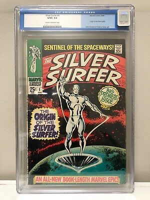 Silver Surfer #1 Cgc 3.0 Gd/vg Marvel Comics Silver Age! Old Cgc Label!