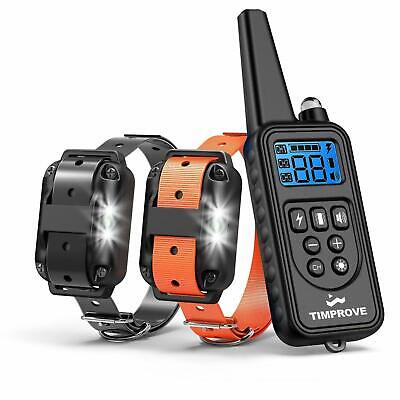 Dog Training Collar 330 Yard Remote Range Vibration Shock Stop Bark Waterproof