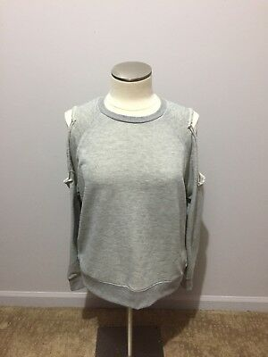 NWT -Gilded Intent by Buckle - Women's Cold Shoulder Long Sleeve - Gray - Medium