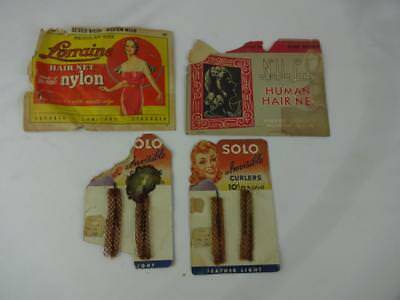 Vintage 1940's Hair Nets & Curlers - Noble Lady  - Solo - Lorraine - Never used!