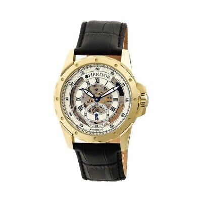 Heritor Men's   Automatic HR3403 Armstrong Watch Black Crocodile