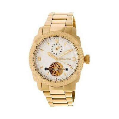 Heritor Men's   Automatic HR5003 Helmsley Watch Gold Stainless Steel/White/Gold