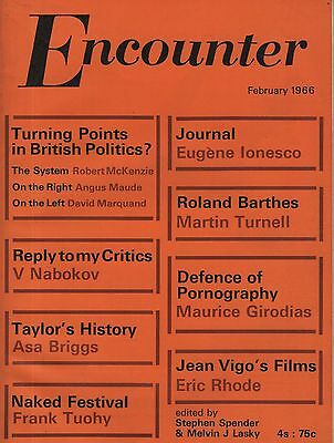 ENCOUNTER MAGAZINE (February 1966) NABOKOV-FRANK TUOHY-IONESCO-MAURICE GIRODIAS