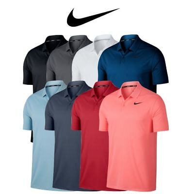2018 MENS NIKE GOLF Dri-Fit VICTORY SOLID Polyester Polo SHIRT,PICK COLOR & SIZE