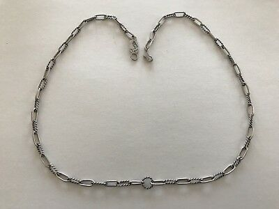 """Beautiful Victorian Style STERLING SILVER T FOREE Fancy Snakeskin 24"""" L Necklace"""
