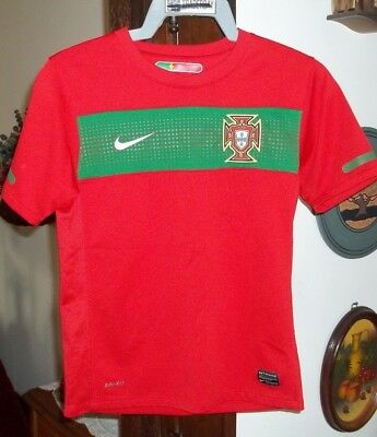 Nike,Youth's,Dri-Fit,Red,Soccer,Short Sleeve,Shirt,Size Medium,NEW!