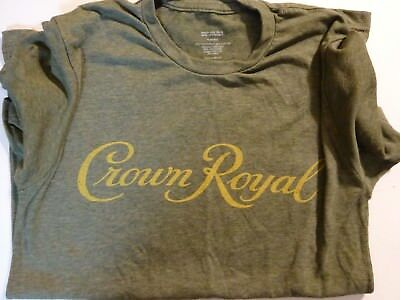 CROWN ROYAL WHISKEY Olive T-Shirt men's S Small w/ Logo New