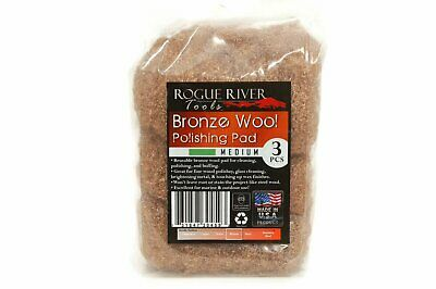 (3 Pack) Bronze Wool Pads by Rogue River Tools - Medium Grade
