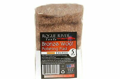 (5 Pack) Bronze Wool Pads by Rogue River Tools - Coarse Grade